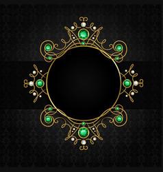 Jewellery black frame vector