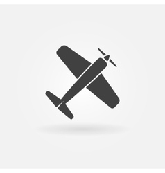 Airplane symbol or icon vector