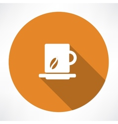 Cup of coffee icon vector