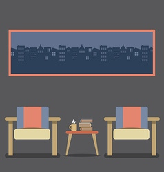 Flat design empty seats vintage interior vector