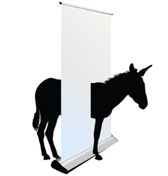 Donkey through the roll up vector