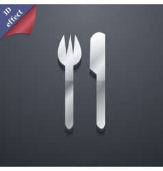 Cutlery icon symbol 3d style trendy modern design vector