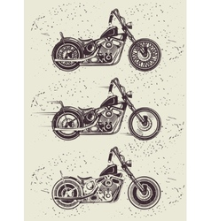 Set of vintage motorcycle badges vector