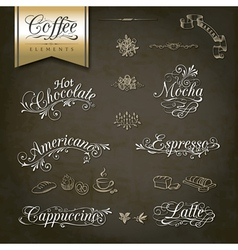 Vintage style coffee menu designs vector