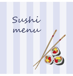 Japanese cuisine restaurant sushi menu cover templ vector