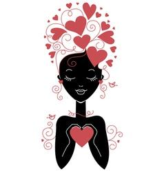 Girl silhouette vector