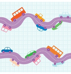 Seamless road background vector