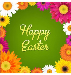 Happy easter card with gerbers vector