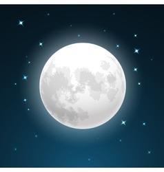Full moon and stars vector