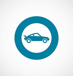 Sport car icon bold blue circle border vector