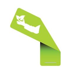 Sticker eco green vector
