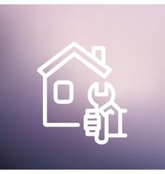 House repair thin line icon vector