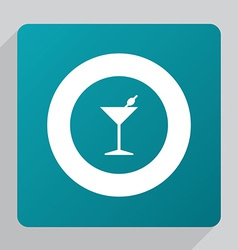 Flat cocktail icon vector