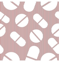 Set pattern of tablets pills capsules medical vector