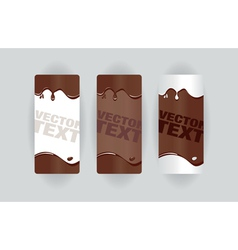 Chocolate splodge banners vector