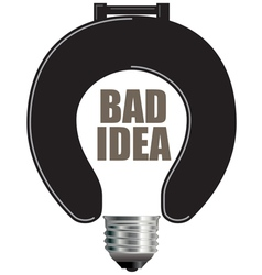 Bad idea light bulb vector