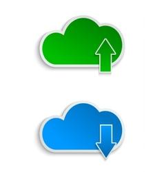 Cloud computing and file sharing vector