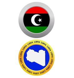 Button as a symbol libya vector