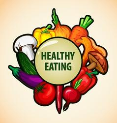 Healthy food menu vector
