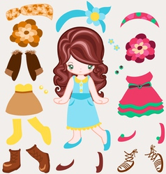 Dress up vintage style vector