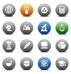 Round buttons for science vector