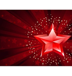 Red pure star vector