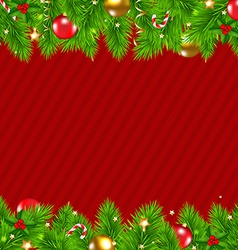 Retro red christmas wall vector