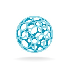 Plastic sphere with different size holes vector
