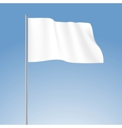 White blank flag isolated vector