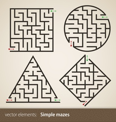 Set of four perfect maze vector