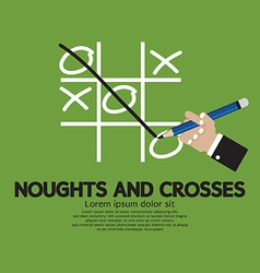 Noughts and crosses vector