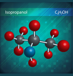 Isopropanol molecules vector
