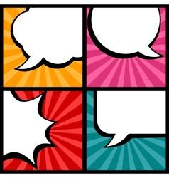 Set of speech bubbles in pop art style vector