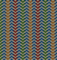 Seamless pattern with knitted motif vector