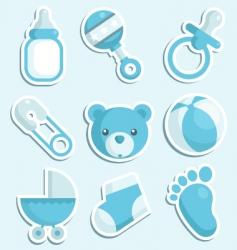 Baby boy icons vector
