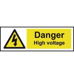 Danger high voltage safety sign vector