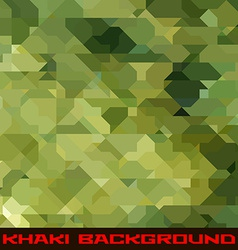 Khaki background with geometric stains vector