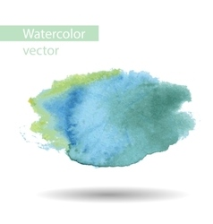 Blurred watercolor blue spot on a white background vector