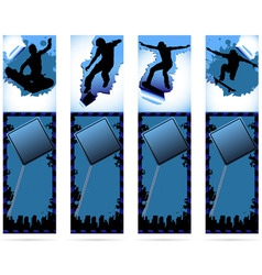 Web elements on urban grunge background with skate vector