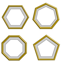 Golden frame vector