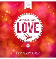 Tender colorful valentines day card design vector