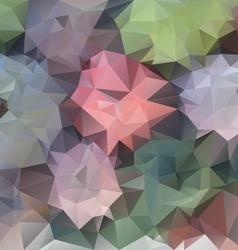 Pastel spring flower polygonal triangular pattern vector