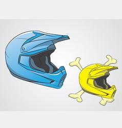 Helmets motocross vector