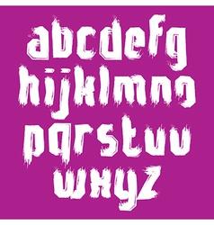 Alphabet letters set hand-drawn unusual script vector