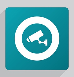 Flat security camera icon vector