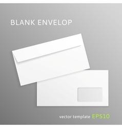Blank paper envelope vector