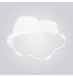 Glass cloud icon vector