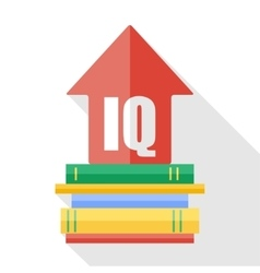 Flat iq increase icon vector
