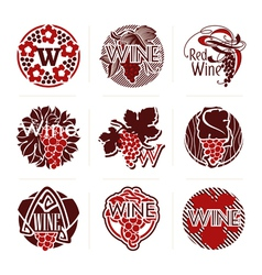 Wine labels and badges - templates for design vector