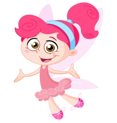 Cheerful fairy vector